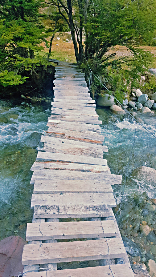 Cerro Castillo home made bridge