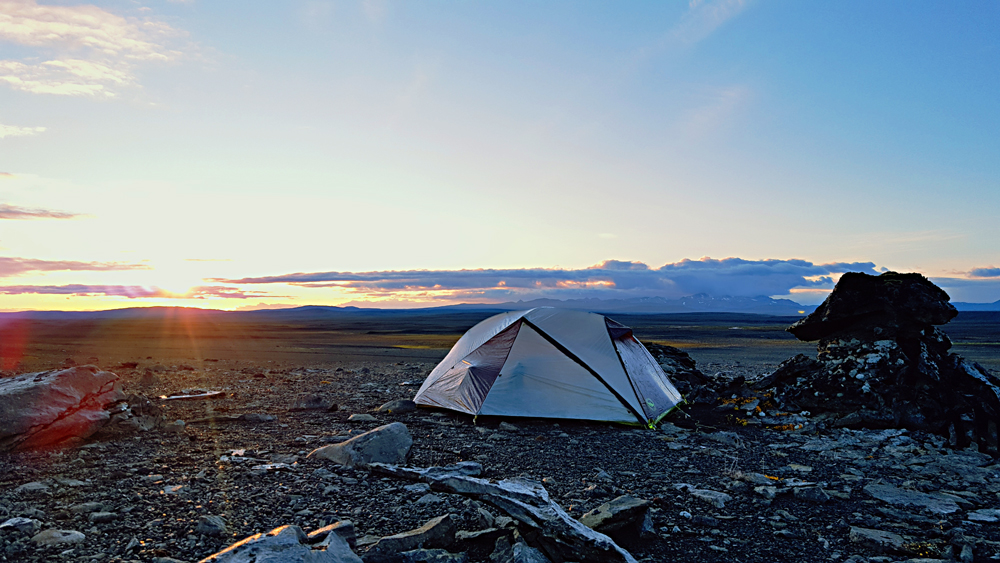 Tent in the middle of Iceland