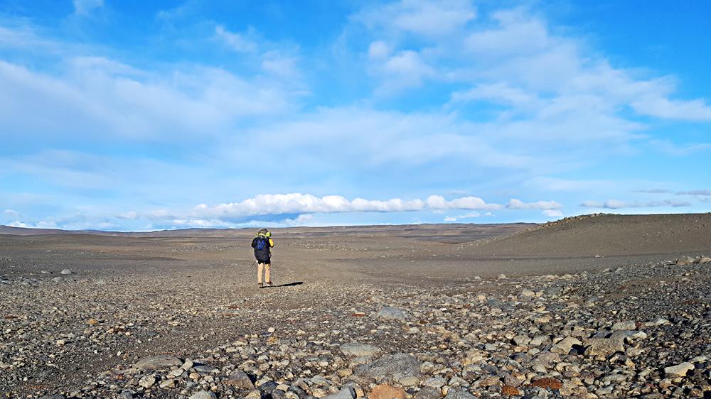 Walking alone in Iceland