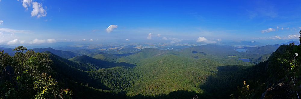 Panorama from the top of Doi Ngum
