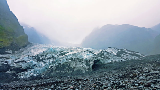 The Michinmahuida Glacier in Park Pumalin