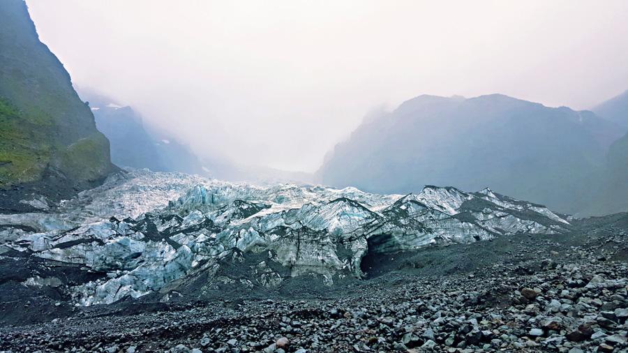 The Michinmahuida Glacier in Park Pumalin