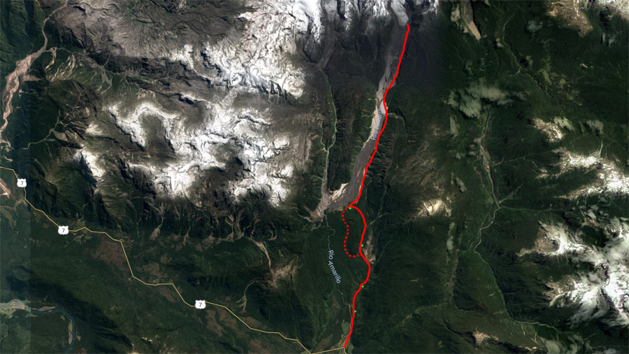 Pumalin Park Michinmahuida Glacier Hike Map