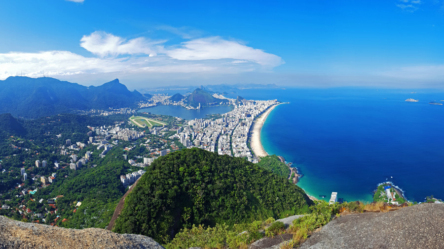 View of Ipanema and Leblon from  Dos Irmaos summit
