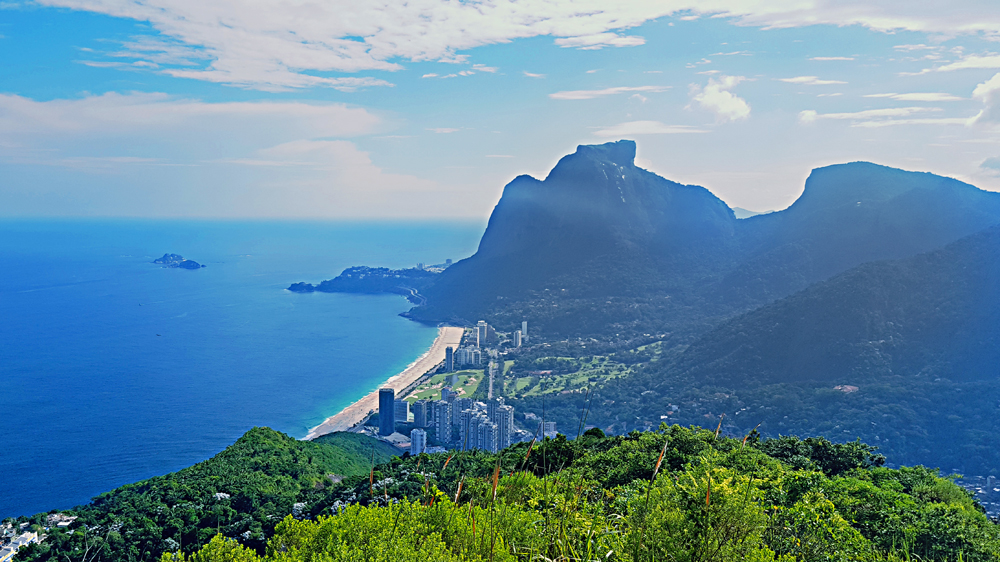 VIew of Pedra da Gavea from Dos Irmaos summit