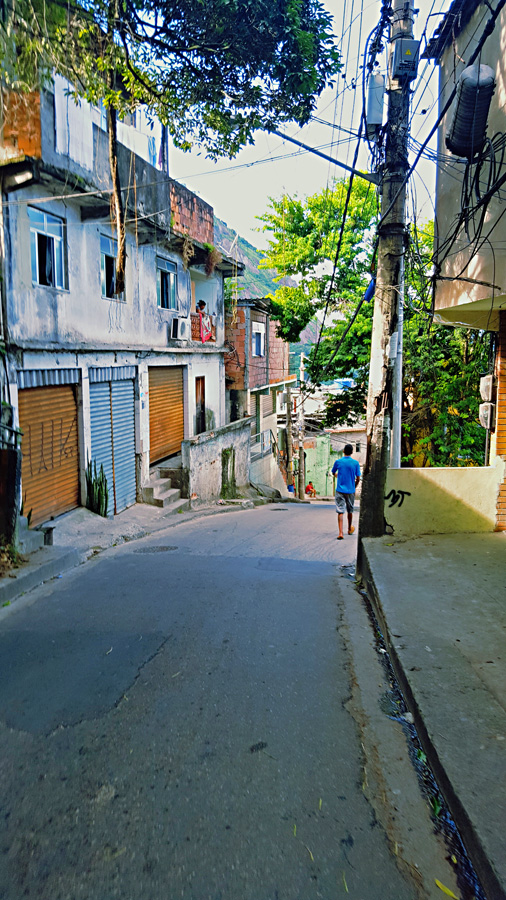 The streets of the Vidigal Favela